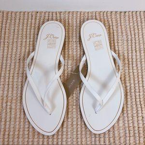 J.Crew NWT Leather Capri White Sandals L5198 Sz 7